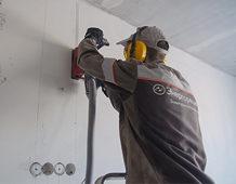 Штробление стен и монтаж новой проводки